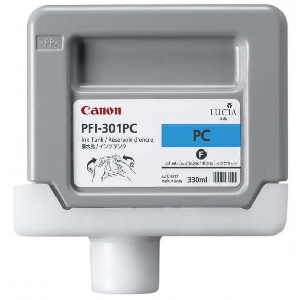 Consommable Canon PFI-301PC Encre Pigment  Photo Cyan
