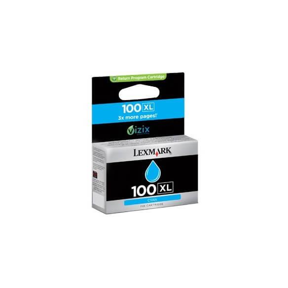 Consommable Lexmark 100XL Cartouche d'encre Cyan