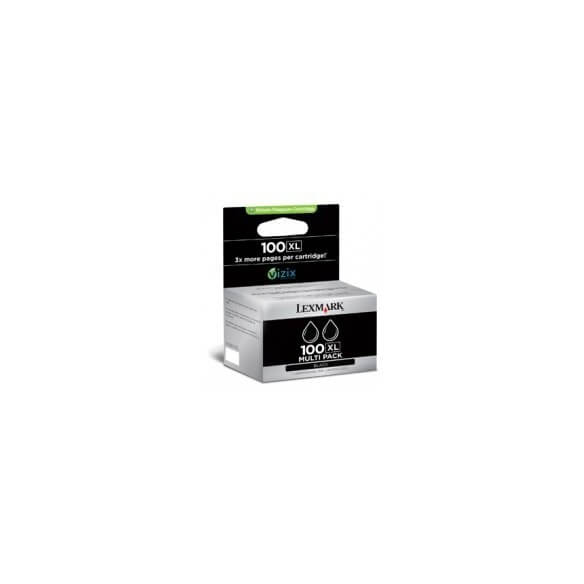 Consommable Lexmark Multipack de cartouche Noir (lot de 2)