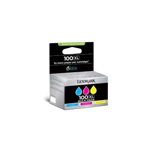 Consommable Lexmark 100XL Multipack de cartouche couleur