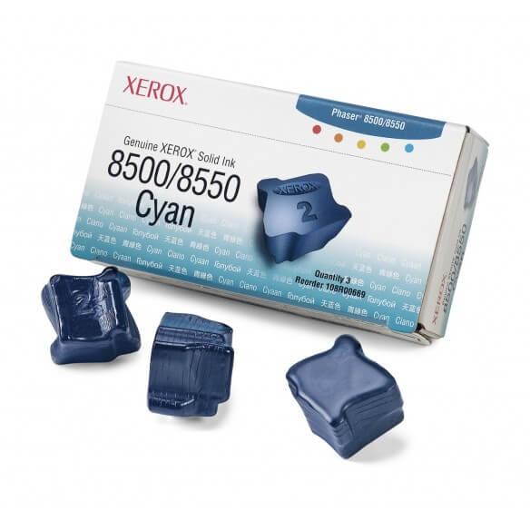 Consommable Xerox Encre solide 8500/8550 cyan (3 bâtonnets)