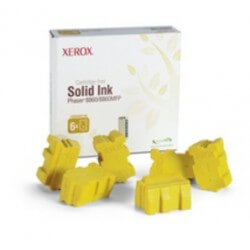 Xerox Encre Solide Jaune 14000 pages pour Phaser 8860/8860MFP (6 bâtonnets)