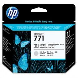 HP Tête d'impression noire photo/gris clair HP771Designjet