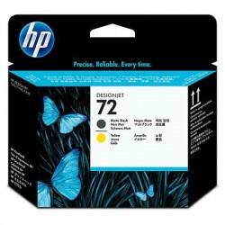 HP Tête d'impression Noir mat, Jaune 72