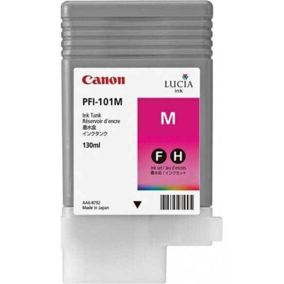 Consommable Canon PFI-101M Encre Pigment Magenta (130 ml)