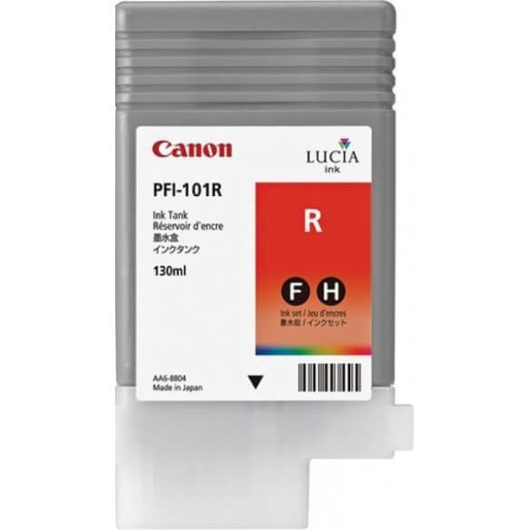 Consommable Canon PFI-101R Encre Pigment Rouge (130ml)