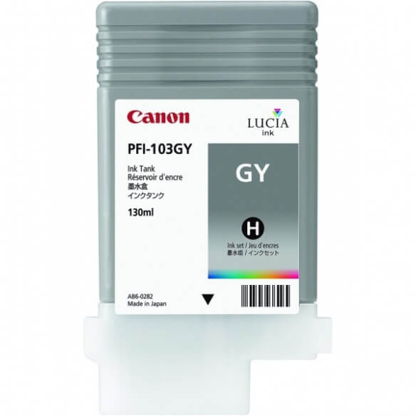 Consommable Canon PFI-103GY Encre Pigment Gris (130ml)