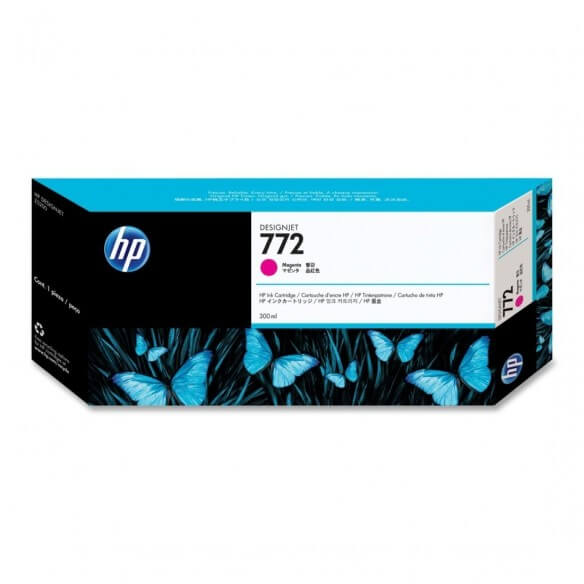 Consommable HP 772 Cartouche d'encre Magenta 300 ml