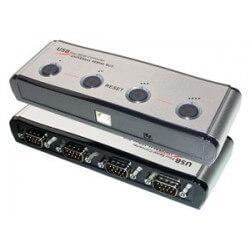 MCL Convertisseur USB serie RS232 - 4 ports