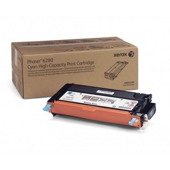 Xerox cartouche de toner d'origine cyan haute capacité (5900 pages) pour Phaser 6280
