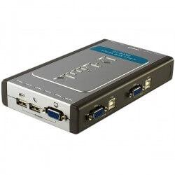 D-Link DKVM-4U keyboard video mouse (KVM) switch box