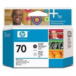 HP Tête d'impression photo noire et grise claire HP70