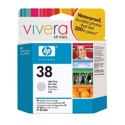 HP Cartouche d'encre pigmentée grise claire HP38