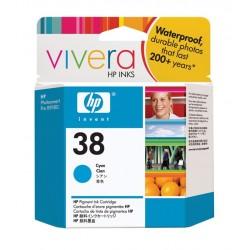 HP Cartouche d'encre pigmentée cyan HP38