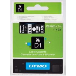 DYMO 53721 Ruban D1 Standard Blanc sur Noir 24mm x 7m