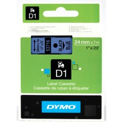 DYMO 53716 Ruban D1 Standard Noir sur Bleu 24mm x 7m