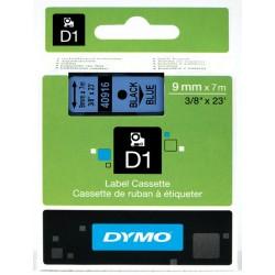 DYMO 40916 Ruban D1 Standard Noir sur Bleu 6mmx7m