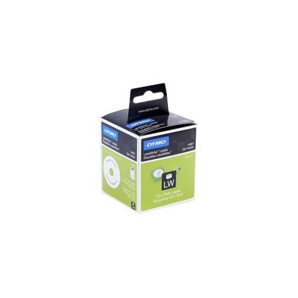 DYMO 14681 Etiquettes pour CD/DVD Diamètre 57mm/160 étiquettes (photo)