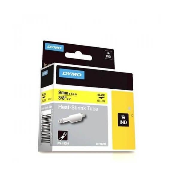 DYMO 18054 Rhino Gaine Thermo-rétractables Noir sur Jaune 9mm x 1.5