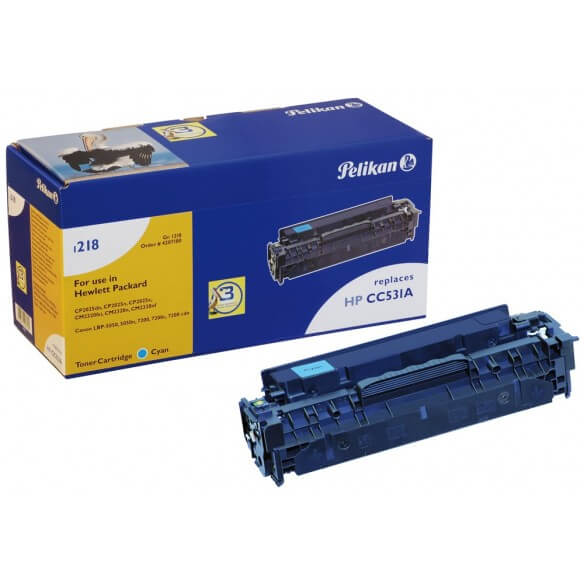 PELIKAN  toner compatible Cyan Canon 718C / Hp CC531A (photo)