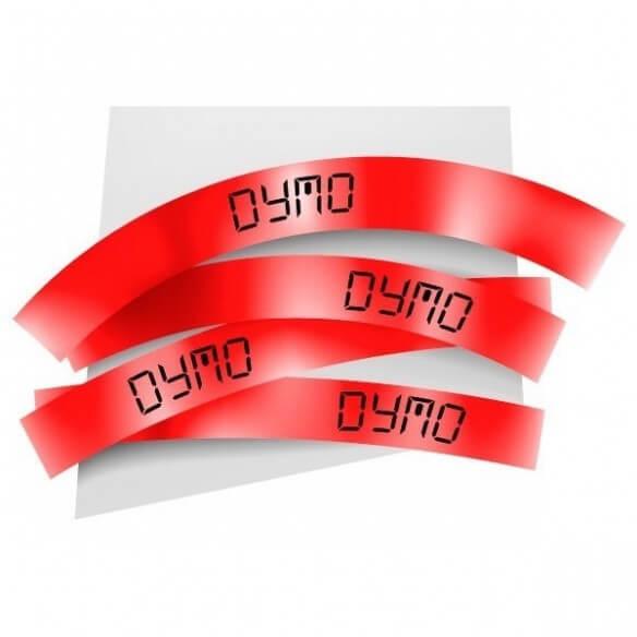 Dymo Ruban 19mm Noir Sur Rouge Pour Labelmanager 350 (photo)