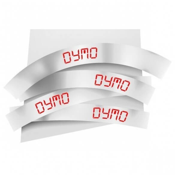 Dymo Ruban 19mm Rouge Sur Blanc Pour Labelmanager 35 (photo)