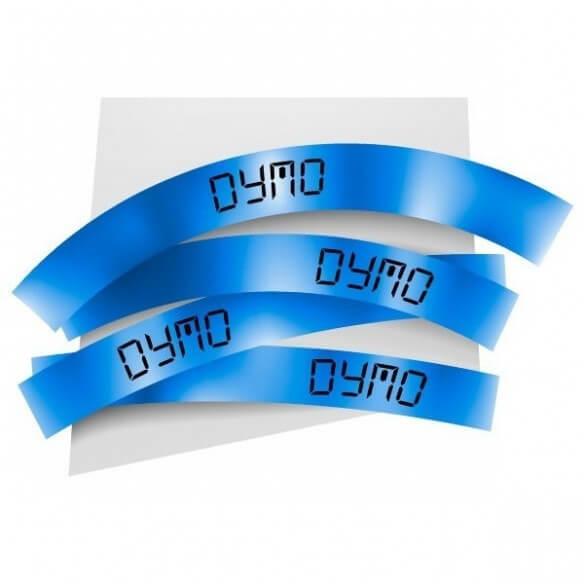 Dymo Ruban 9mm Noir Sur Bleu Pour Lp15 (photo)