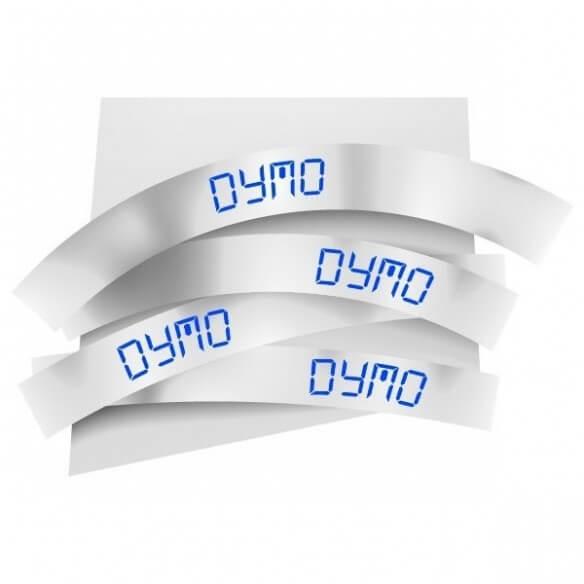 Dymo Ruban 9mm Bleu Sur Blanc Pour Lp1 (photo)