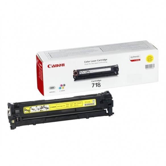 Consommable Canon 718 Y Cartouche de Toner Jaune 2900 pages
