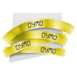 DYMO 18052 Rhino Gaine Thermo-rétractables Noir sur Jaune 6mm x 1.5m