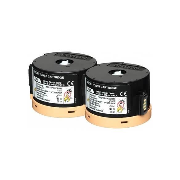 Consommable Epson Pack 2 toners noir (2 x 2500p.) WorkForce série AL-M20