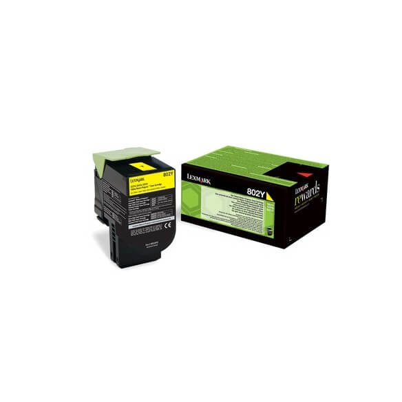 Consommable Lexmark 802Y Yellow Return Program Toner Cartrid
