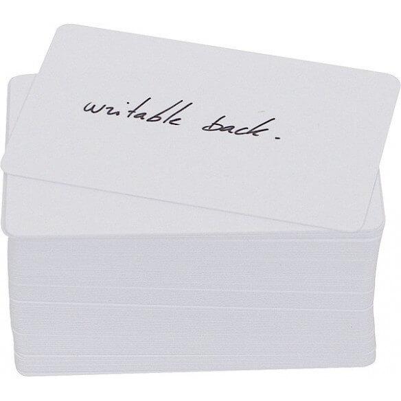 Evolis PVC White Card 100 un 0,50 VERSO (photo)
