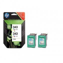 HP Cartouches d'encre 3 couleurs HP343 (lot de 2)