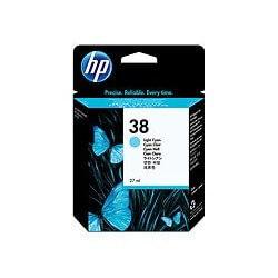 HP Cartouche d'encre pigmentée cyan clair HP38