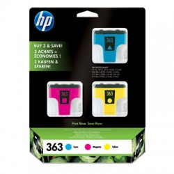 HP Cartouches d'encre HP363 cyan/magenta/jaune (lot de 3)