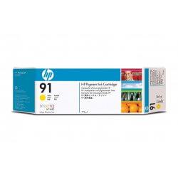 HP Cartouche d'encre à pigments jaune 91 775ml