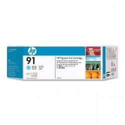 HP Cartouche d'encre à pigments cyan clair 91 775ml