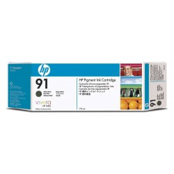 HP Cartouche d'encre à pigments Noir mat 91 775ml