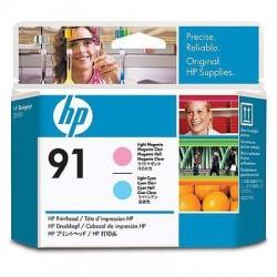 HP Tête d'impression magenta clair et cyan HP91