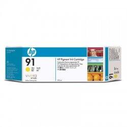 HP Jeu de 3 cartouches à encre jaune n°91 775 ml