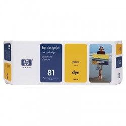 HP Cartouche d'encre jaune 81 680ml