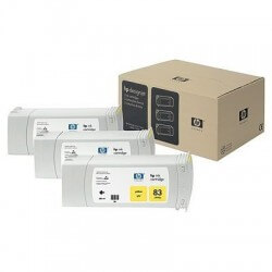 HP Jeu de 3 cartouches d'encre jaune UV n°83 680 ml