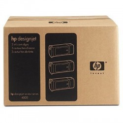 HP Cartouches d'encre jaune HP 90 400 ml (lot de 3)