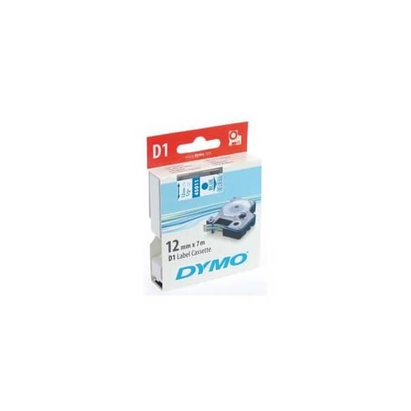DYMO 45011 Ruban D1 Standard 12mm x 7m Bleu sur Transparent