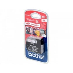 Brother MK222BZ Ruban laminé 9mm Blanc sur Rouge 8m