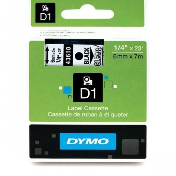 Dymo Ruban 6mm Noir Sur Trans Pour Lp1 (photo)
