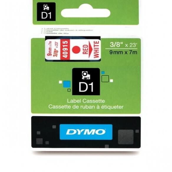 Dymo Ruban 9mm Rouge Sur Blanc Pour Lp (photo)