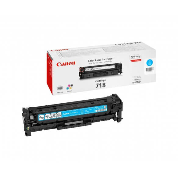 Canon 718 Cartouche de Toner Cyan