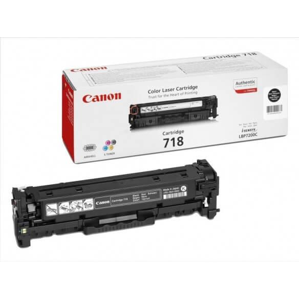 Canon 718 BK cartouche de toner noir d'origine 3400 pages
